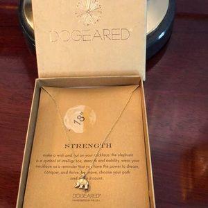 Dogeared Strength Elephant Necklace